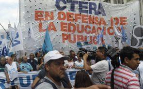 Paro nacional docente contra las reformas Laboral y Previsional